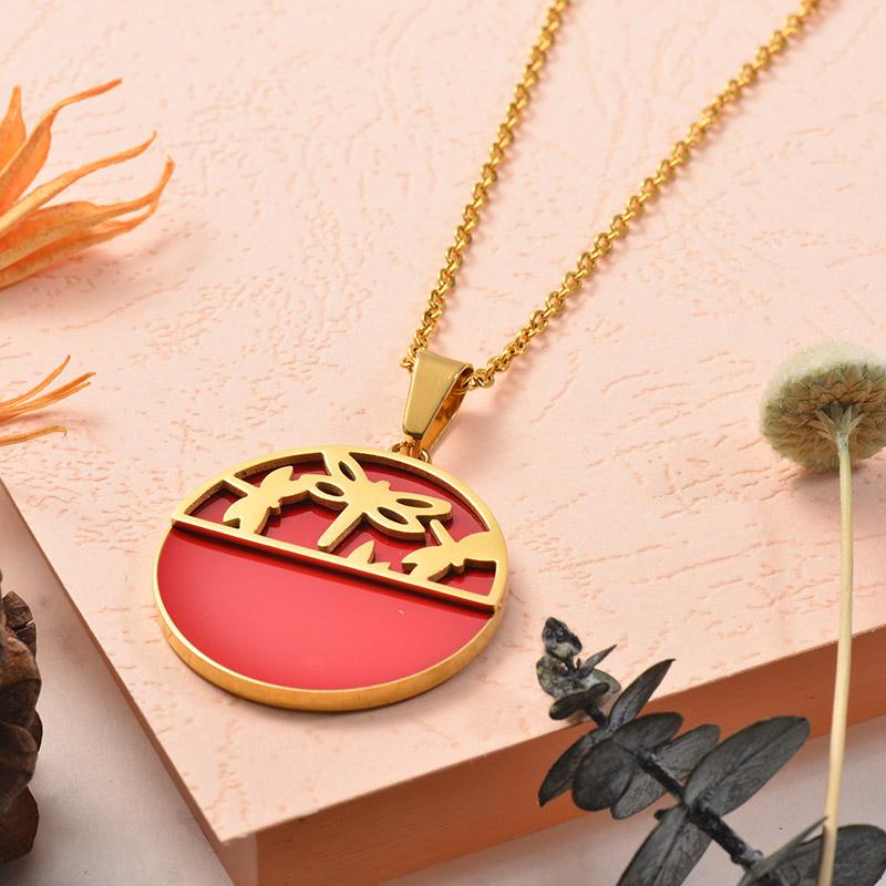 Collares de Acero Inoxidable para Mujer -SSNEG129-25379