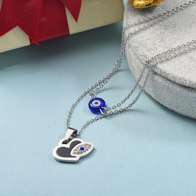 Collares de Acero Inoxidable para Mujer -SSNEG142-25513