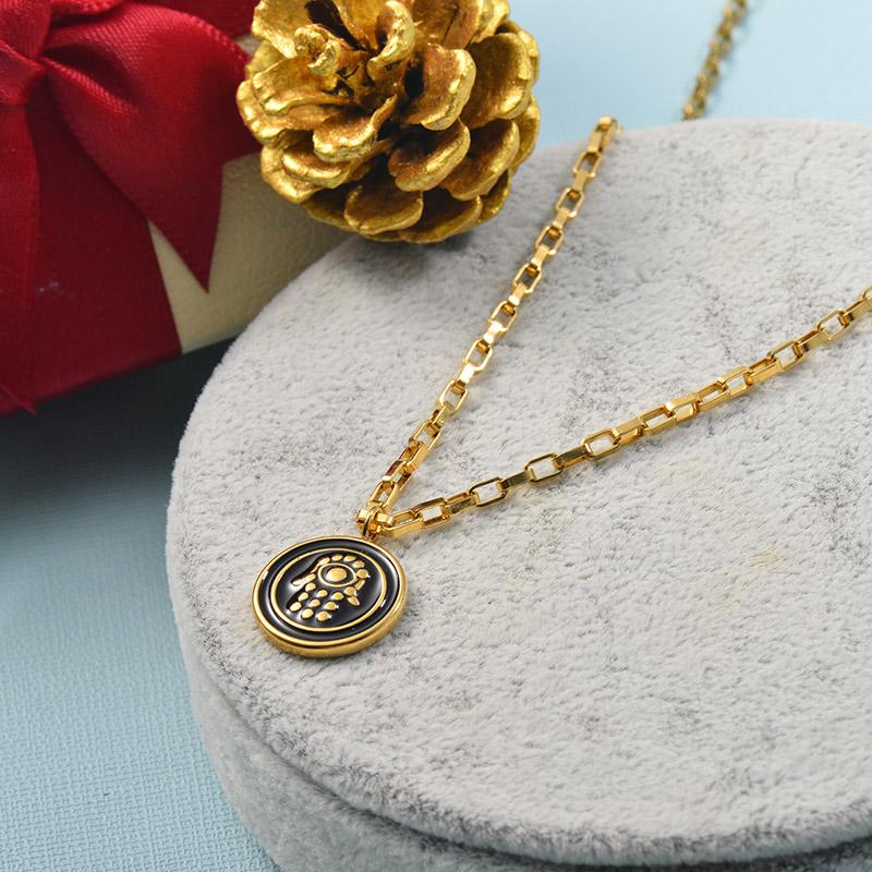 Collares de Acero Inoxidable para Mujer -SSNEG142-25507