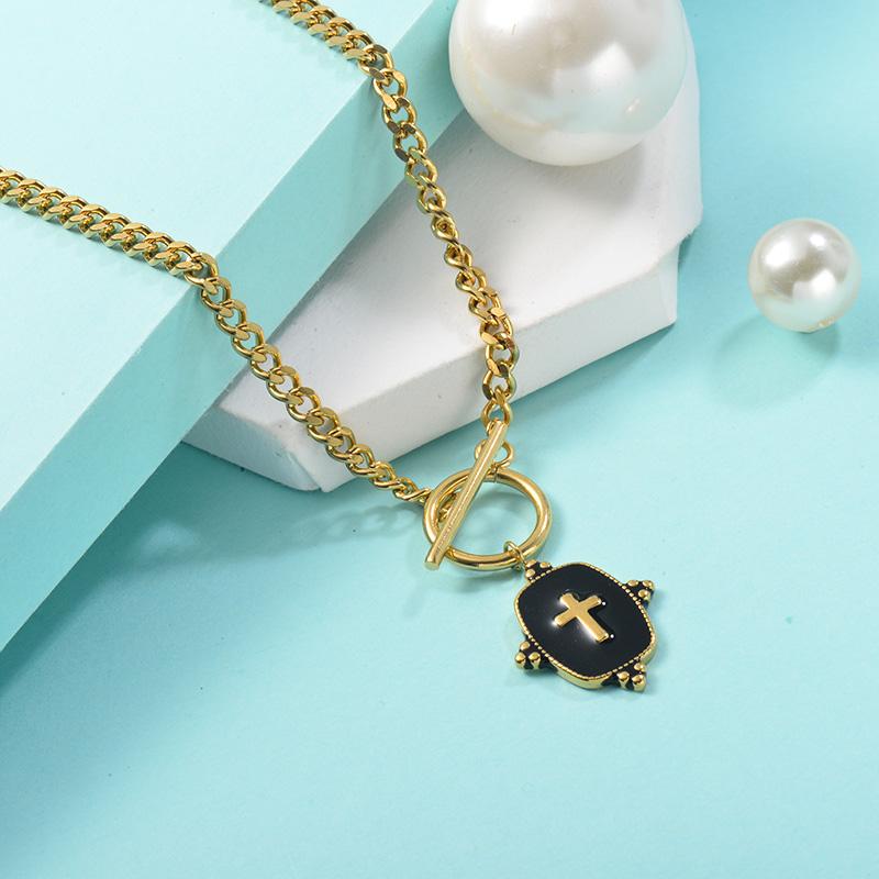 Collares de Acero Inoxidable para Mujer -SSNEG142-25450