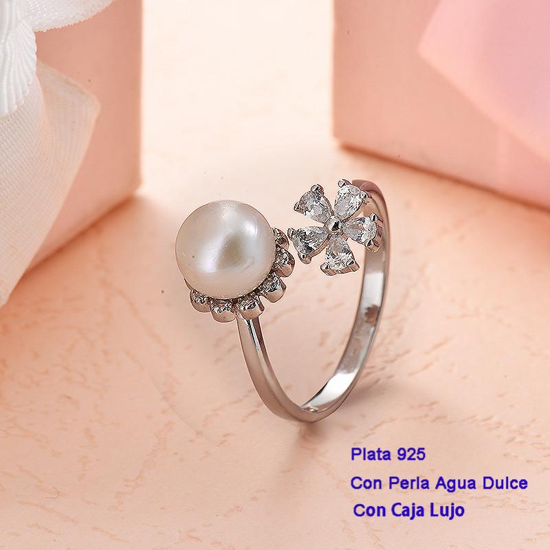 Anillos de Plata 925 con perla agua dulce -PLRGG191-25414