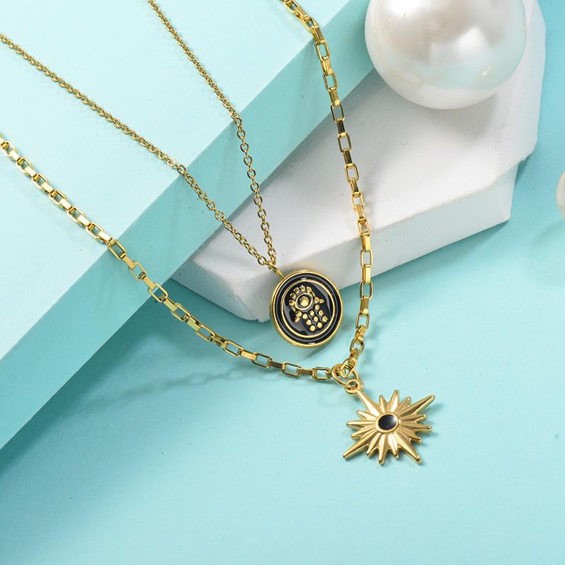 Collares de Acero Inoxidable para Mujer -SSNEG142-25441