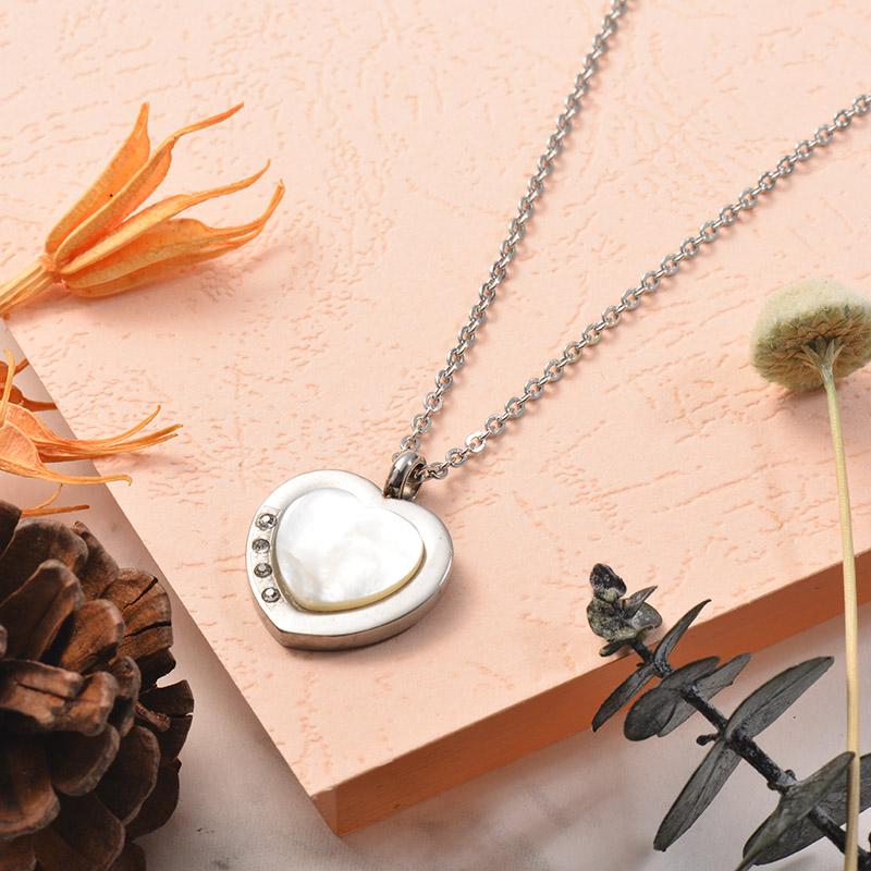 Collares de Acero Inoxidable para Mujer -SSNEG129-25391