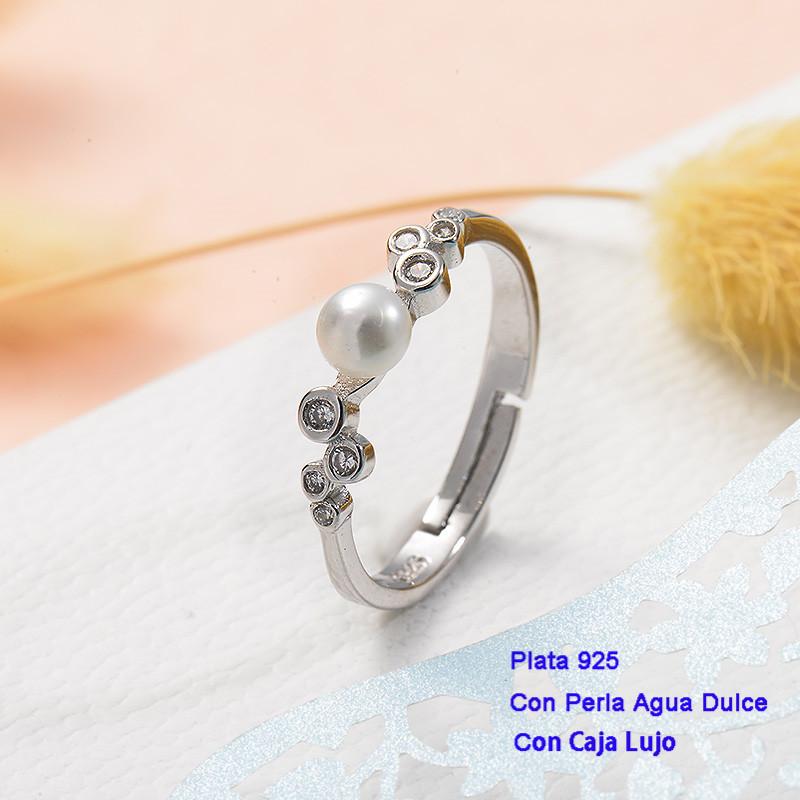 Anillos de Plata 925 con perla agua dulce -PLRGG191-25427