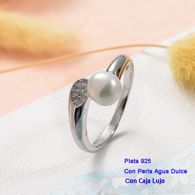 Anillos de Plata 925 con perla agua dulce -PLRGG191-25428