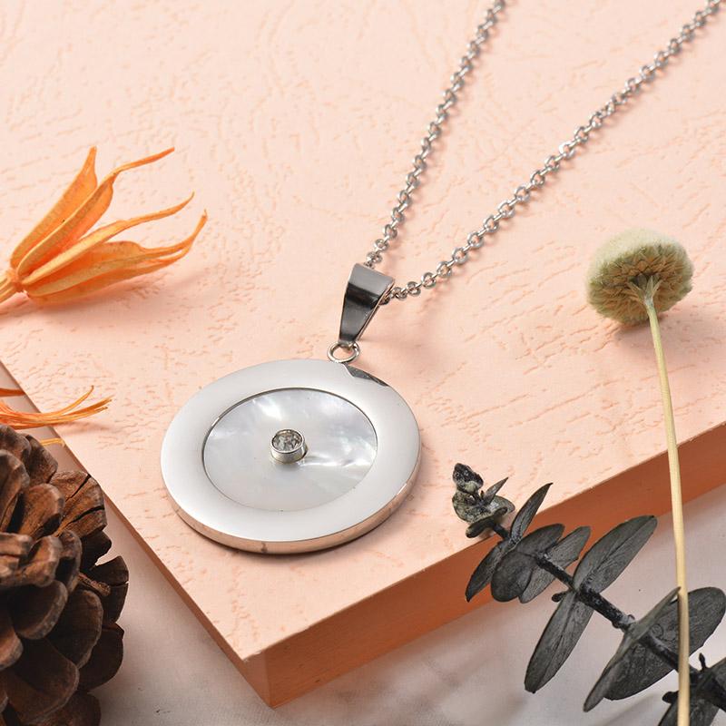Collares de Acero Inoxidable para Mujer -SSNEG129-25381