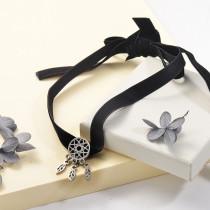 Collares de Acero Inoxidable para Mujer -SSNEG142-25503