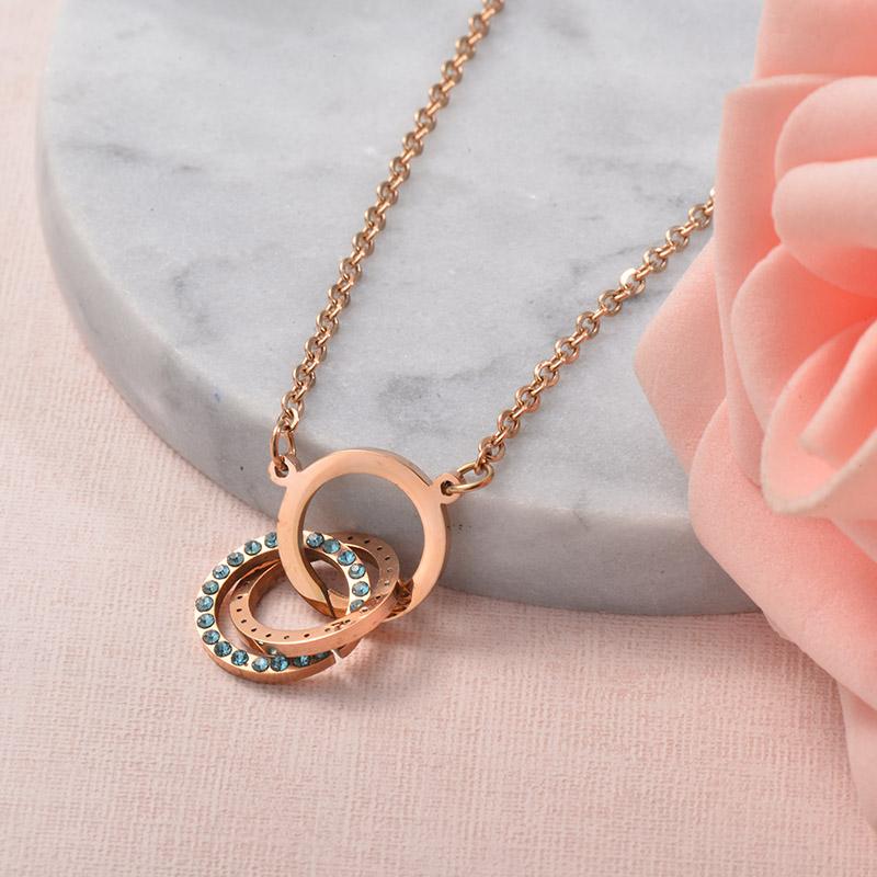 Collares de Acero Inoxidable para Mujer -SSNEG129-25707
