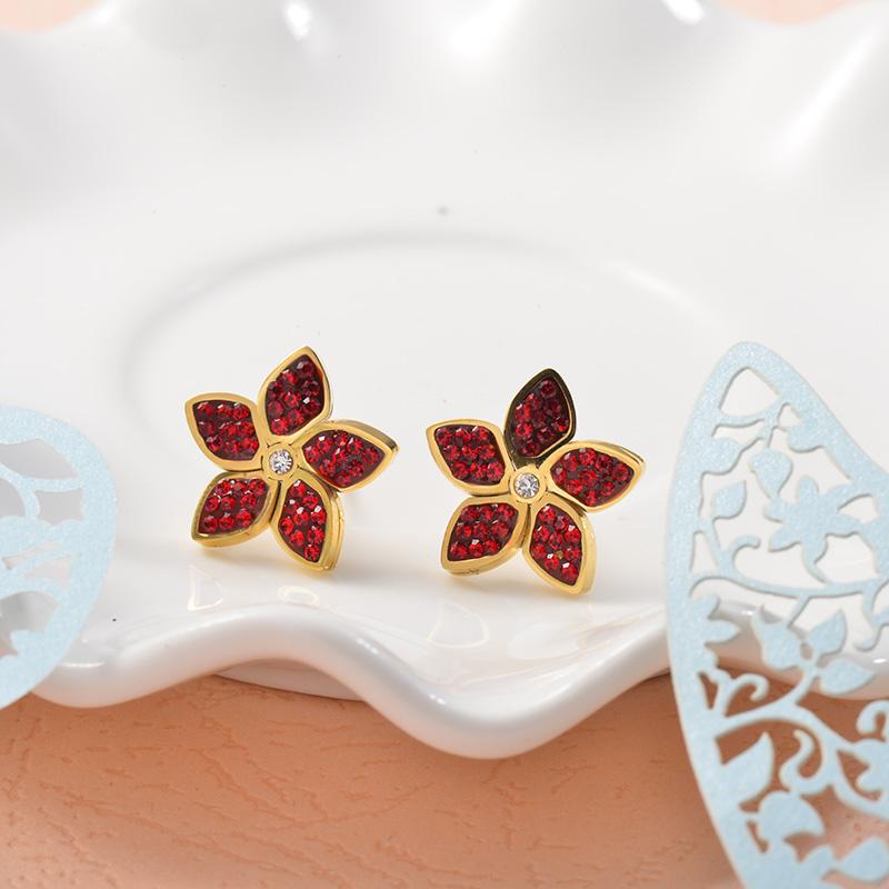 Aretes de Acero Inoxidable para Mujer -SSEGG157-25721
