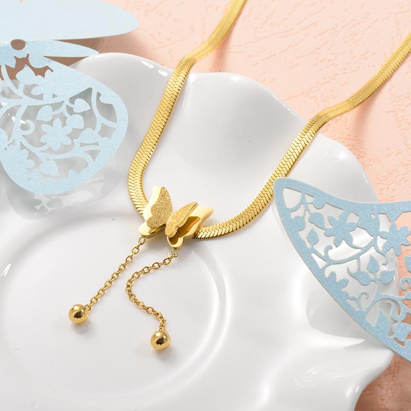 Collares de Acero Inoxidable para Mujer -SSNEG157-25730