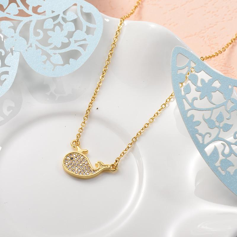 Collares de Acero Inoxidable para Mujer -SSNEG157-25725
