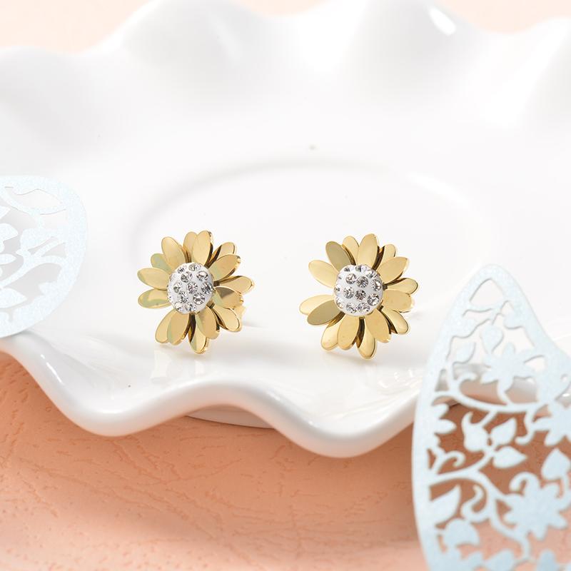 Aretes de Acero Inoxidable para Mujer -SSEGG157-25718