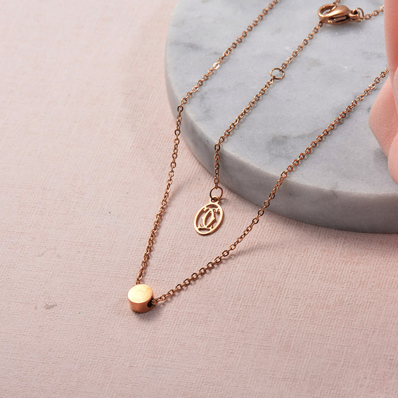 Collares de Acero Inoxidable para Mujer -SSNEG129-25704