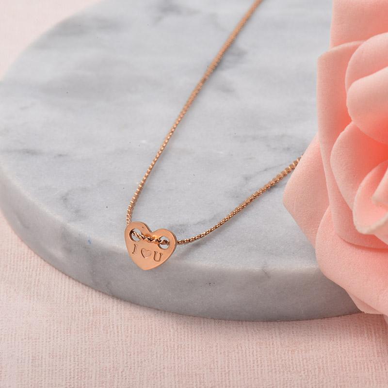 Collares de Acero Inoxidable para Mujer -SSNEG129-25706