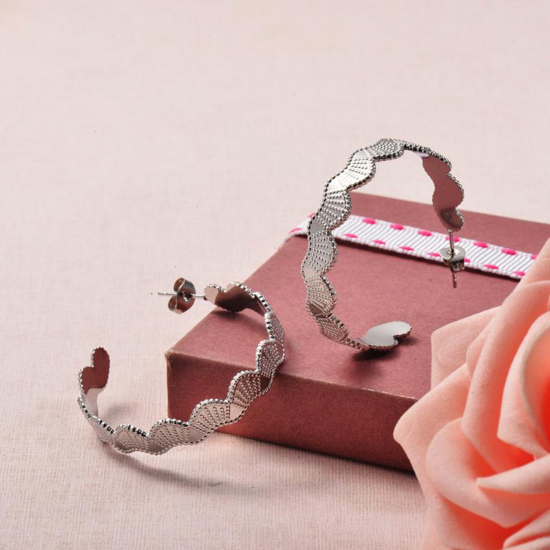 Aretes de Acero Inoxidable para Mujer -SSEGG129-25710