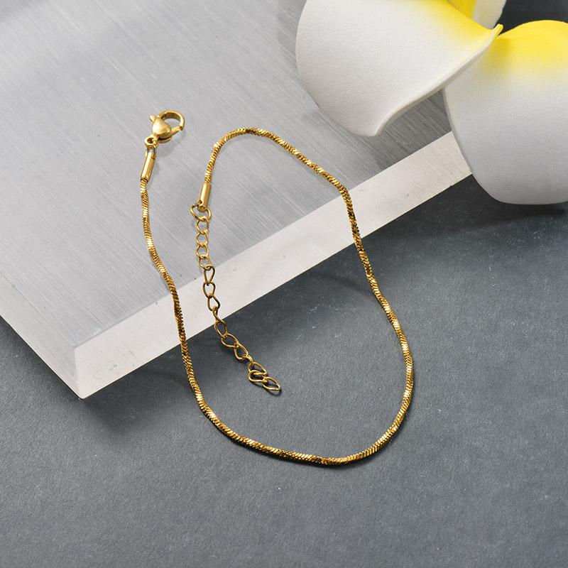 Tobilleras de Acero Inoxidable para Mujer -SSTDG200-25695