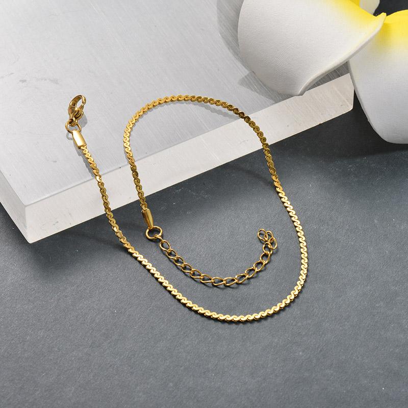 Tobilleras de Acero Inoxidable para Mujer -SSTDG200-25682