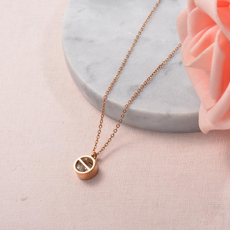 Collares de Acero Inoxidable para Mujer -SSNEG129-25702