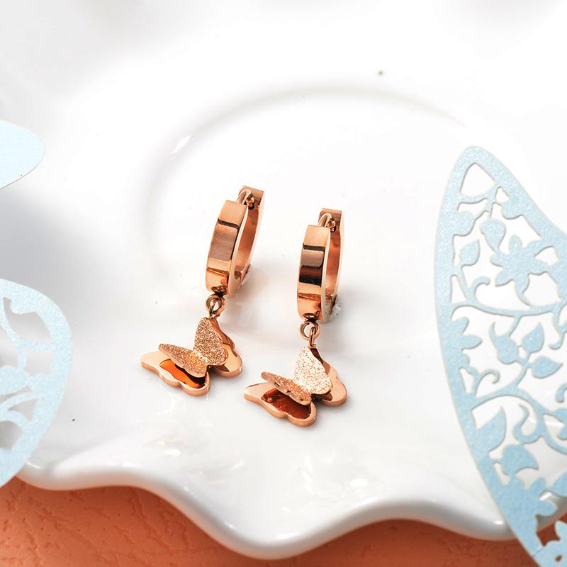 Aretes de Acero Inoxidable para Mujer -SSEGG157-25719