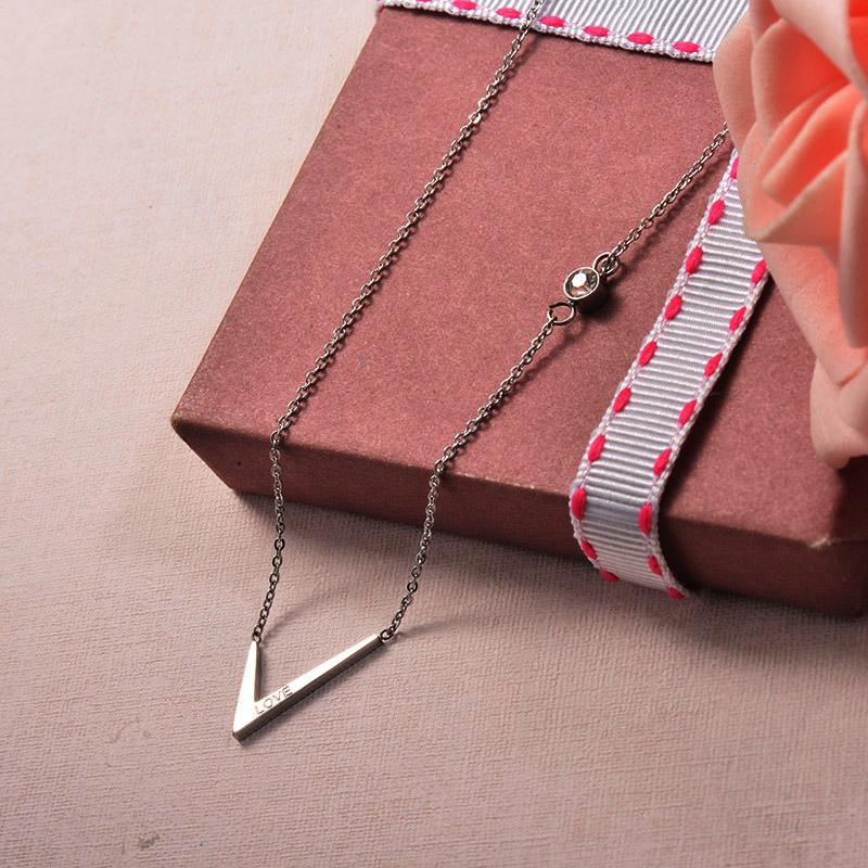 Collares de Acero Inoxidable para Mujer -SSNEG129-25701