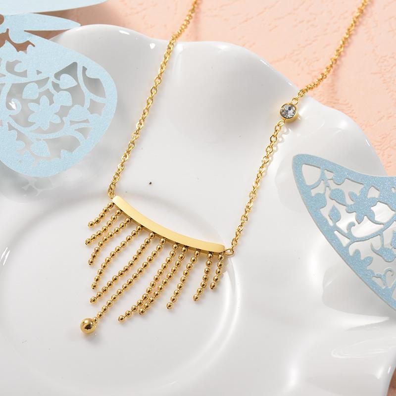 Collares de Acero Inoxidable para Mujer -SSNEG157-25732