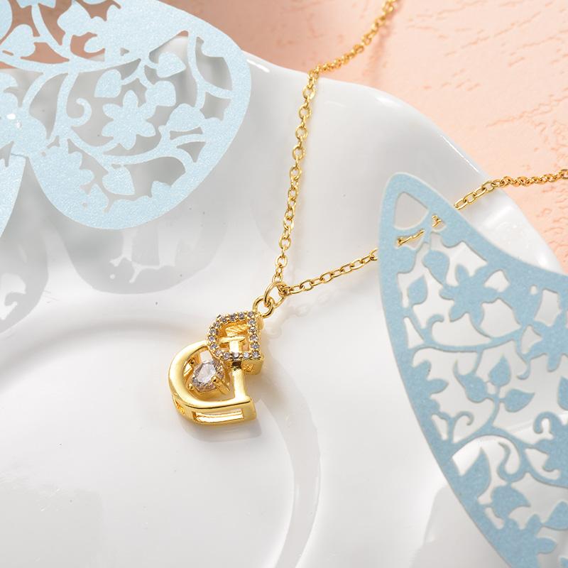 Collares de Acero Inoxidable para Mujer -SSNEG157-25724