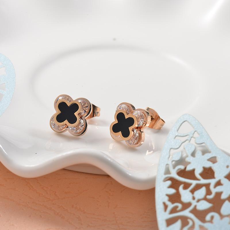 Aretes de Acero Inoxidable para Mujer -SSEGG157-25717