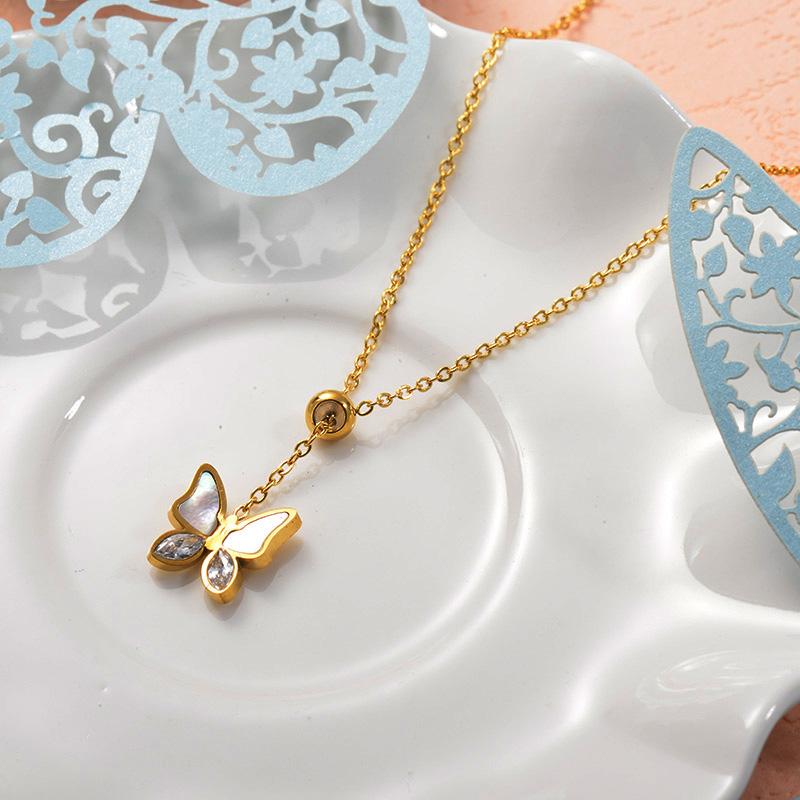 Collares de Acero Inoxidable para Mujer -SSNEG157-25729