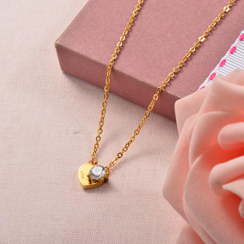 Collares de Acero Inoxidable para Mujer -SSNEG129-25709
