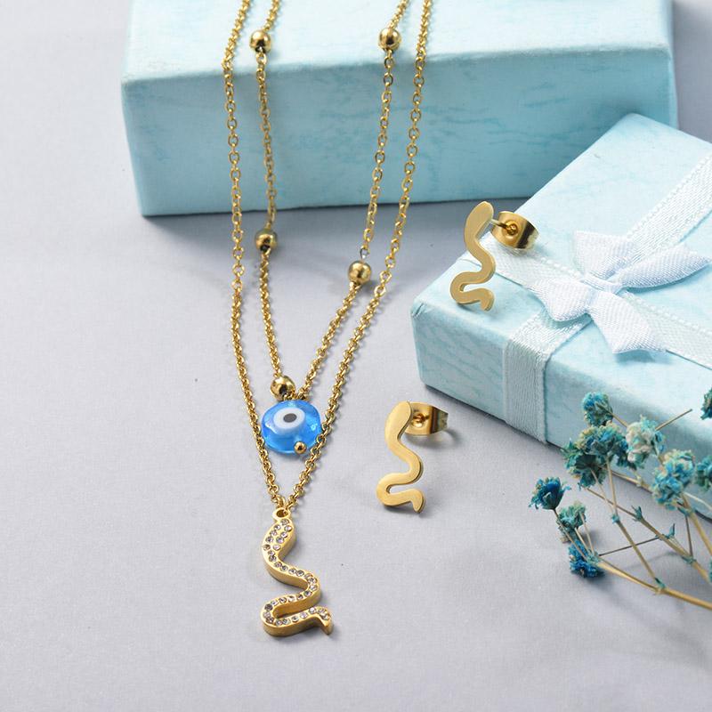 Conjuntos de Acero Inoxidable para Mujer -SSCSG201-25641