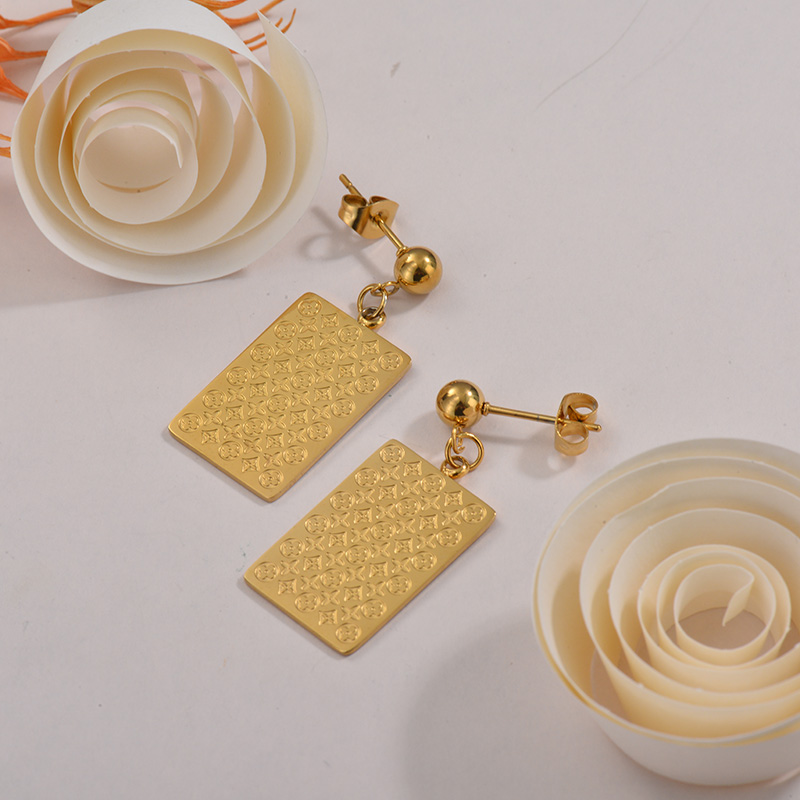 Sets de Aretes en Acero Inoxidable -SSEGG40-26288