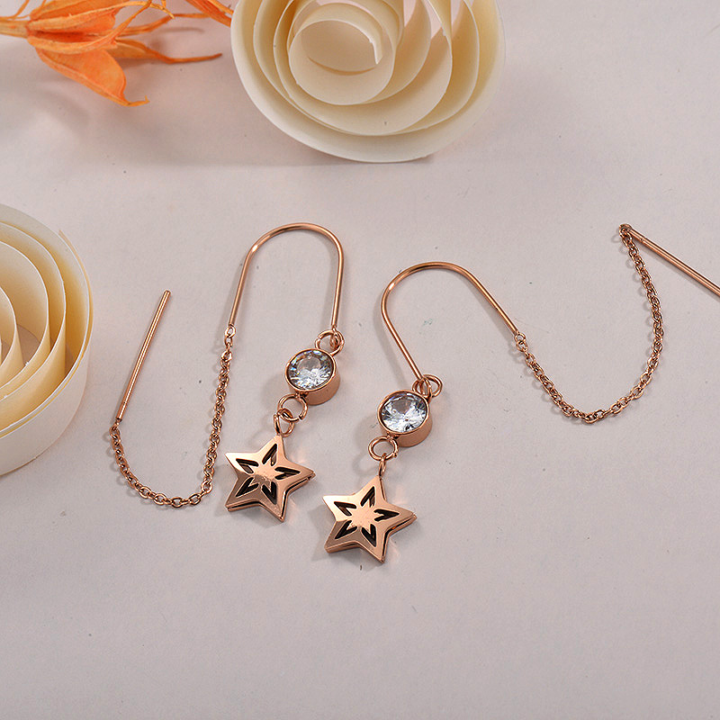 Sets de Aretes en Acero Inoxidable -SSEGG40-26285