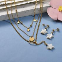 Collares de Acero Inoxidable para Mujer -SSNEG142-26657