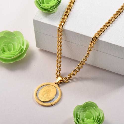 Collares de Acero Inoxidable para Mujer -SSNEG142-26687