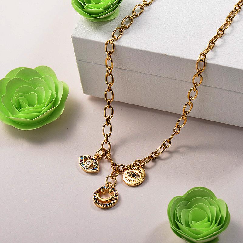 Collares de Acero Inoxidable para Mujer -BRNEG142-26684