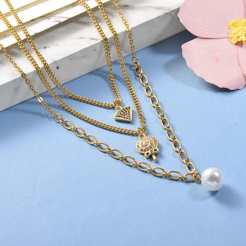 Collares de Acero Inoxidable para Mujer -BRNEG142-26663