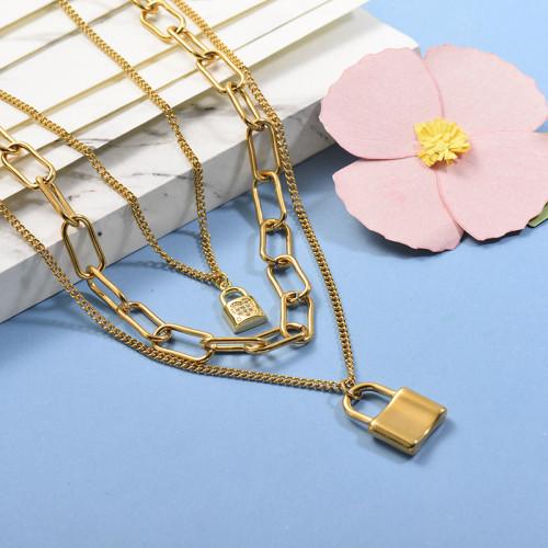 Collares de Acero Inoxidable para Mujer -SSNEG142-26668
