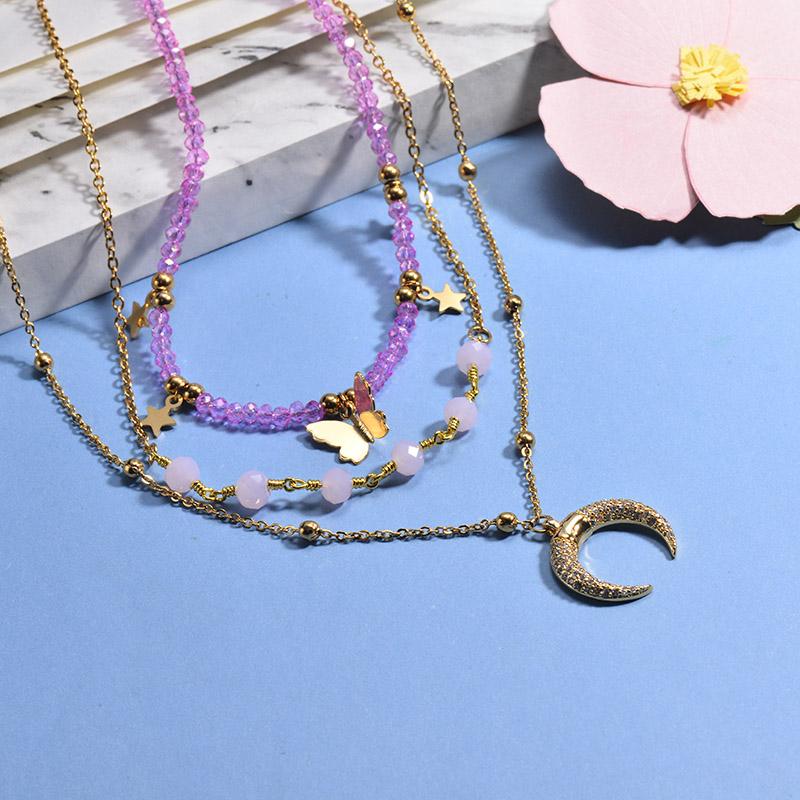Collares de Acero Inoxidable para Mujer -BRNEG142-26653
