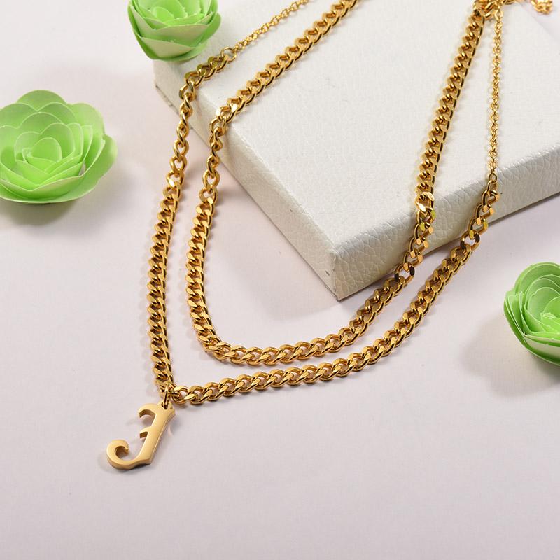 Collares de Acero Inoxidable para Mujer -SSNEG142-26676