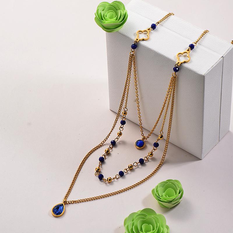 Collares de Acero Inoxidable para Mujer -SSNEG142-26671
