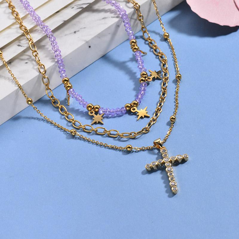 Collares de Acero Inoxidable para Mujer -BRNEG142-26655