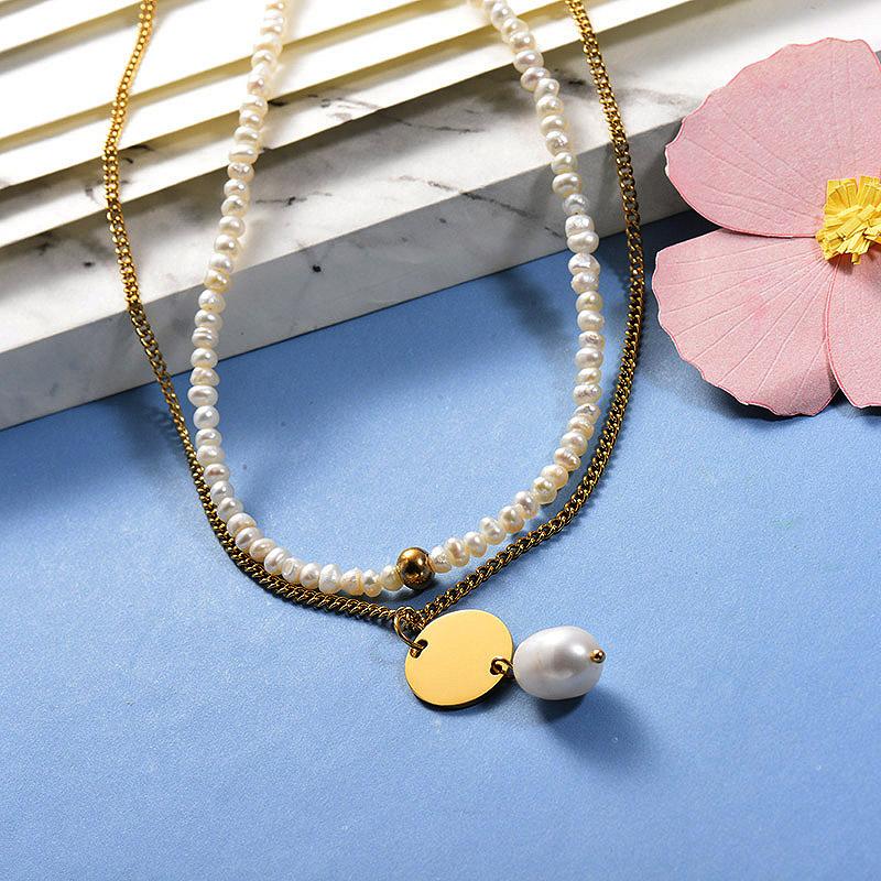 Collares de Acero Inoxidable para Mujer -SSNEG142-26660