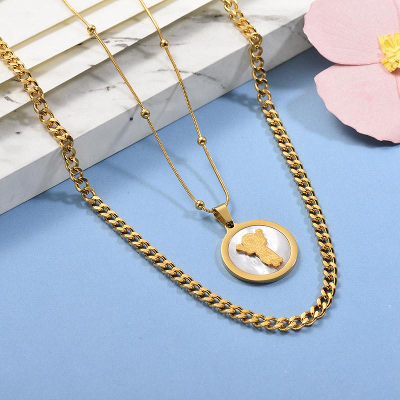 Collares de Acero Inoxidable para Mujer -SSNEG142-26666