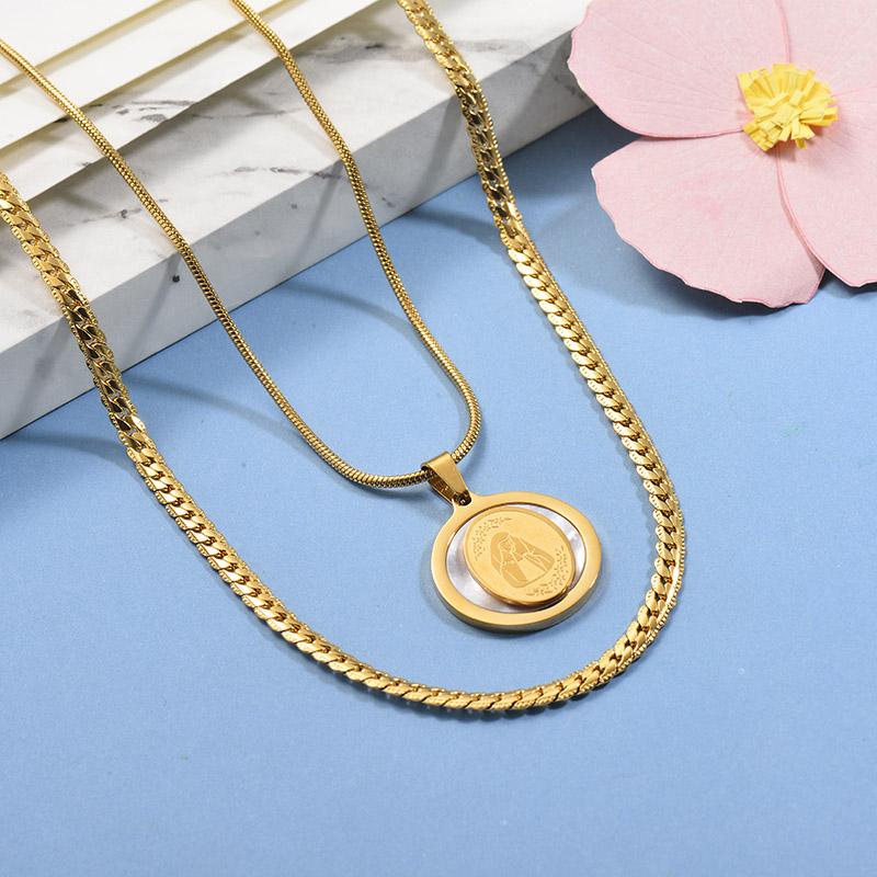 Collares de Acero Inoxidable para Mujer -SSNEG142-26669