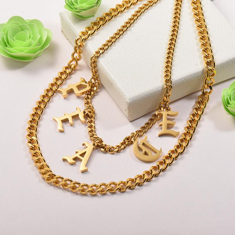 Collares de Acero Inoxidable para Mujer -SSNEG142-26672