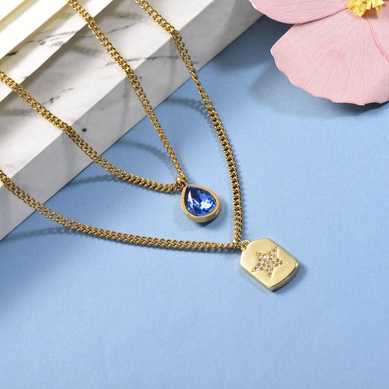 Collares de Acero Inoxidable para Mujer -BRNEG142-26662