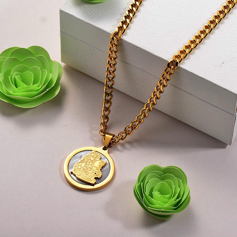 Collares de Acero Inoxidable para Mujer -SSNEG142-26688