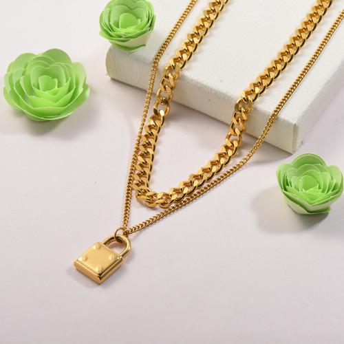 Collares de Acero Inoxidable para Mujer -SSNEG142-26674