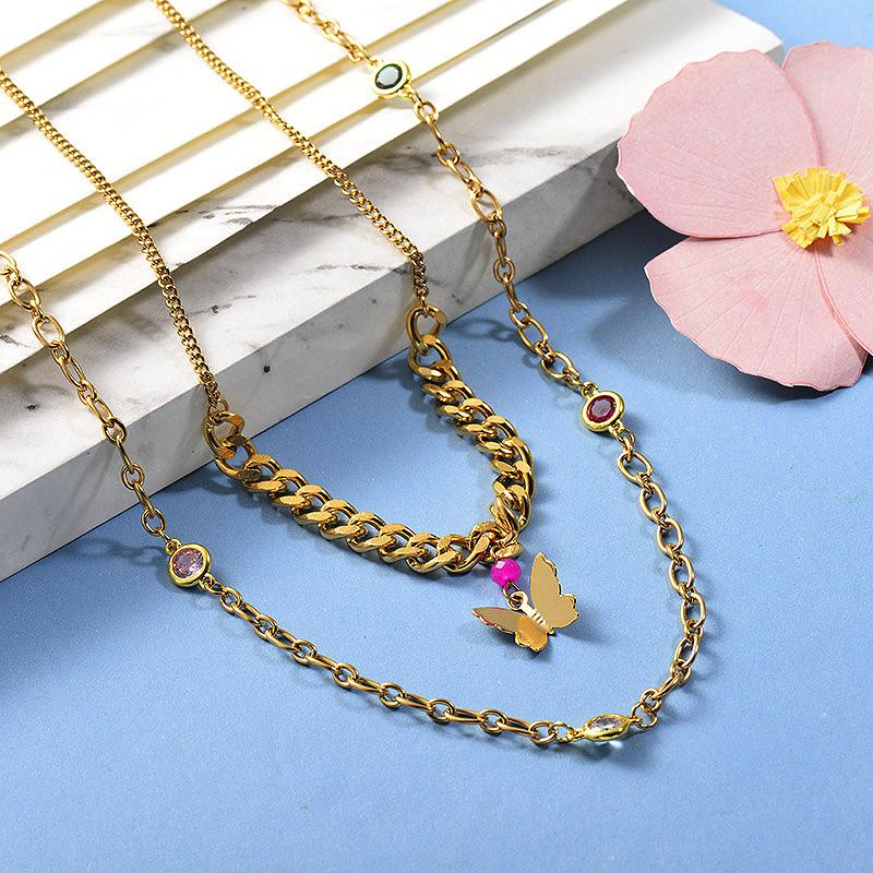 Collares de Acero Inoxidable para Mujer -BRNEG142-26664