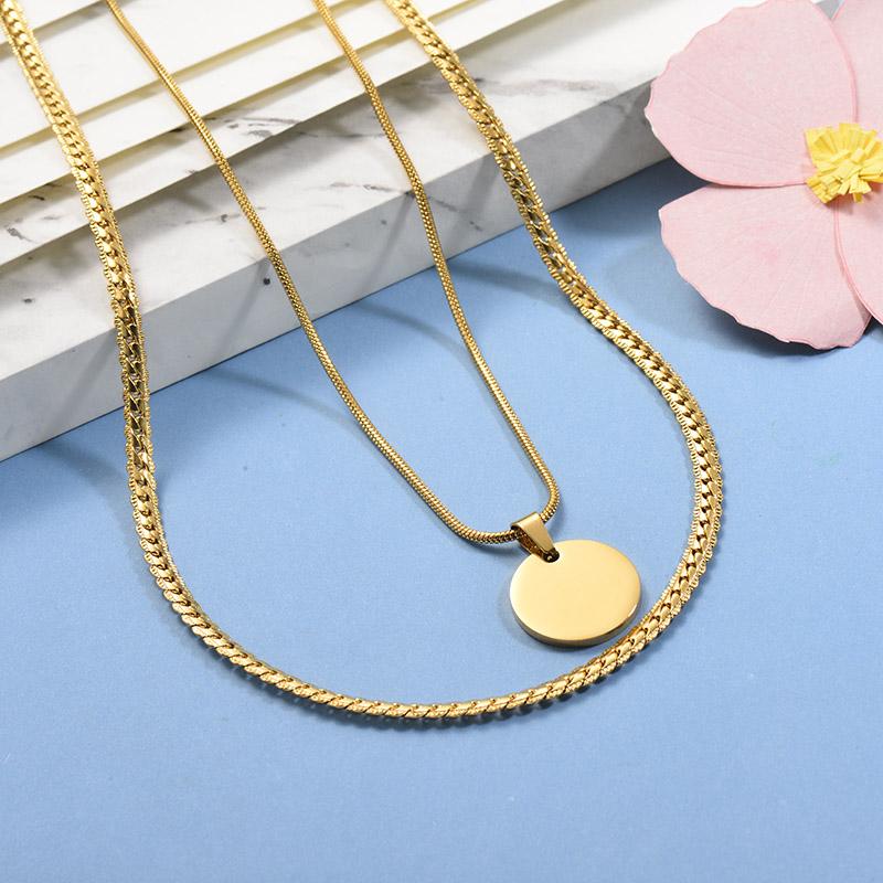 Collares de Acero Inoxidable para Mujer -SSNEG142-26665